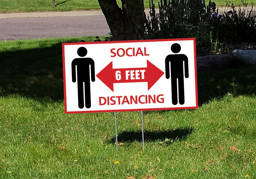 Social Distancing Signage - Toronto | Brazen Print |